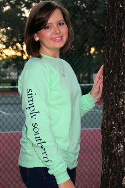 long sleeve mint simply southern shirt style