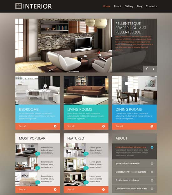 34 Interior Design Website Templates Free Premium 2017