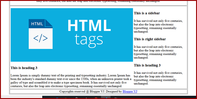 Website Designing Course in Telugu | How to create web layout using Table in HTML | Part -2