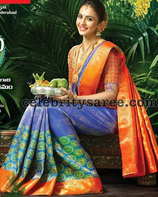 Rakul Preet Singh Latest Sarees by RS Brothers