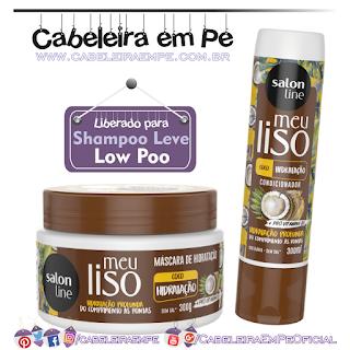 Máscara e Condicionador Meu Liso Coco Hidratação - Salon Line (Low Poo)