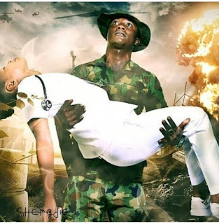 Checkout These Creative Pre-Wedding Photos Of Nigerian Soldier And His Nurse Fiancee