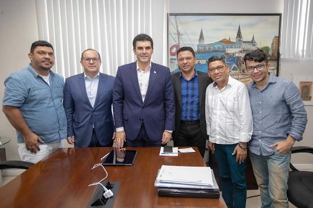Governador recebe alguns politicos do Marajó