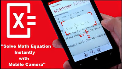 تطبيق أعجبني لحل المسائل الرياضية باستخدام الكاميرا (PhotoMath)