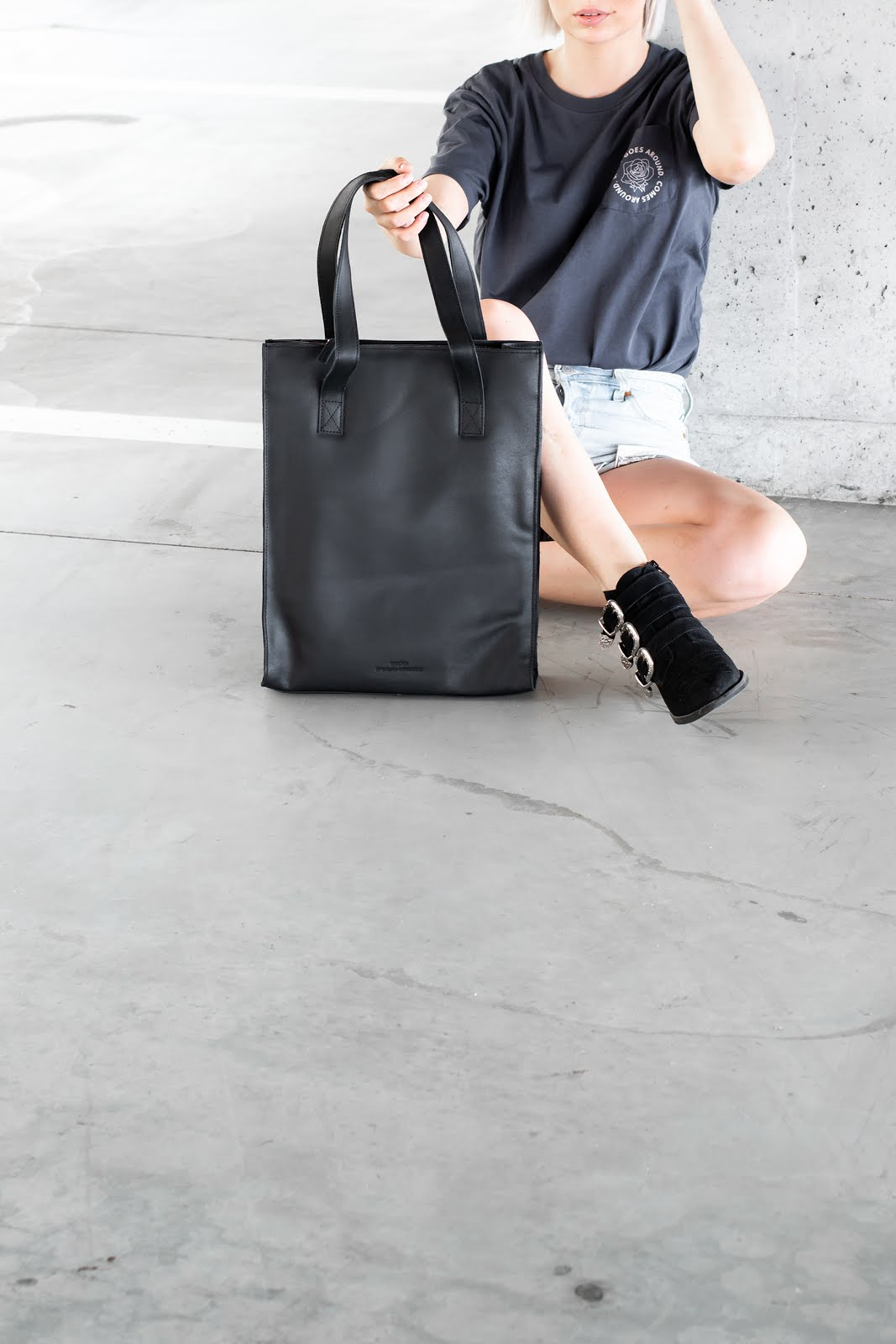 Sacha, handtas, tote bag, transparant, leather, laptop, minimal, black, 2019, transparent, pandco, provision & co, p&co
