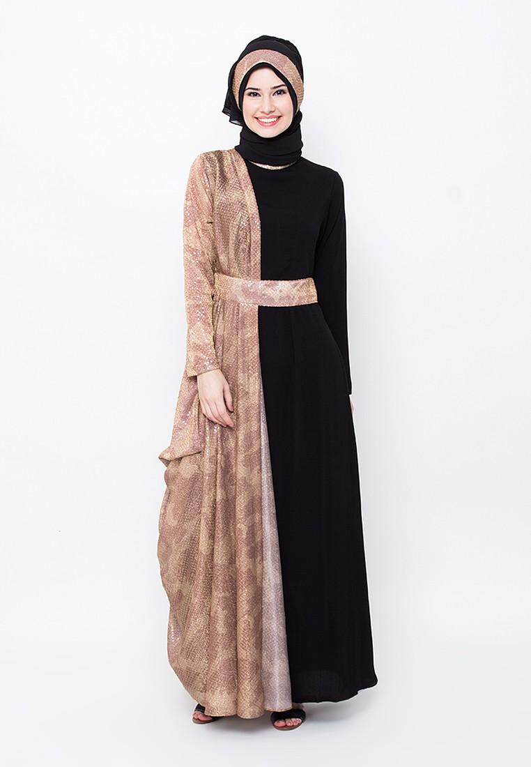 Model%2BBaju%2BMuslim%2BBatik%2BKombinasi%2BPolos%2Bcantik 10 model baju muslim batik kombinasi polos inspirasi para wanita,Model Baju Muslim Variasi Batik