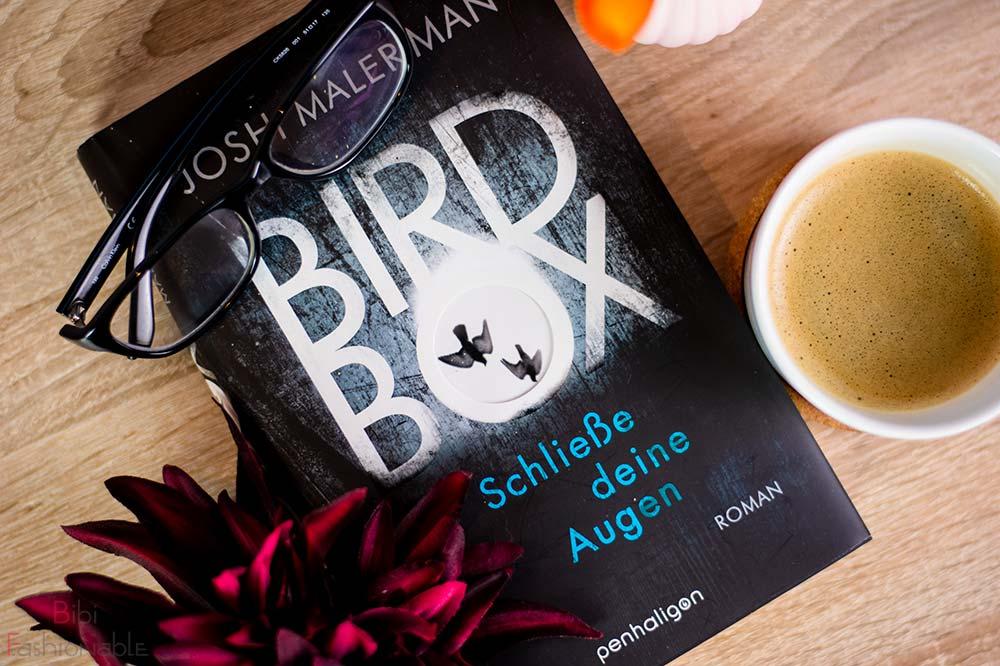 Josh Malerman Bird Box Schließe deine Augen Flatlay