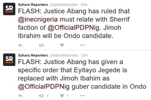 BREAKING News: Court Replaces Jegede with Jimoh Ibahim as Official PDP Candidate in Ondo