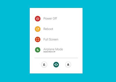 Demo Power Button in Material Design Version