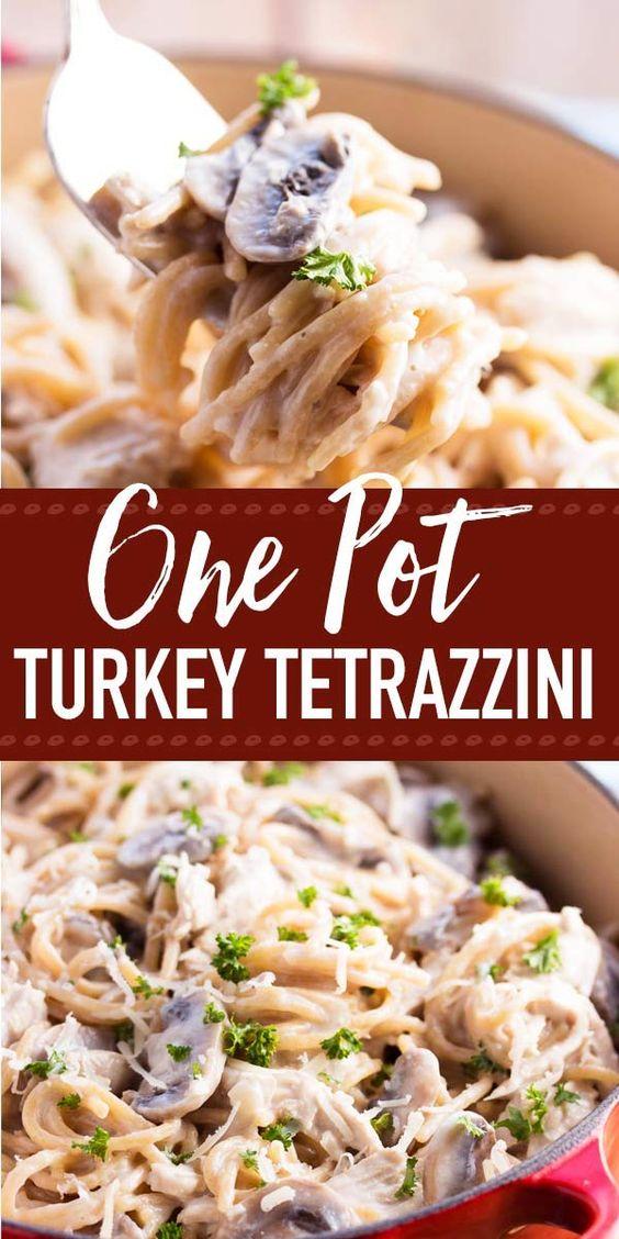 30 Minute Lighter Stovetop Turkey Tetrazzini Recipe