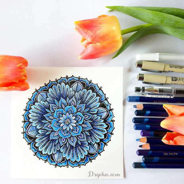 9 kroków kolorowania mandali