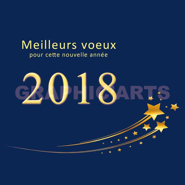 Le blog de graphic 39 arts cartes de voeux 2018 etoile filante - Cartes de voeux virtuelles 2017 ...