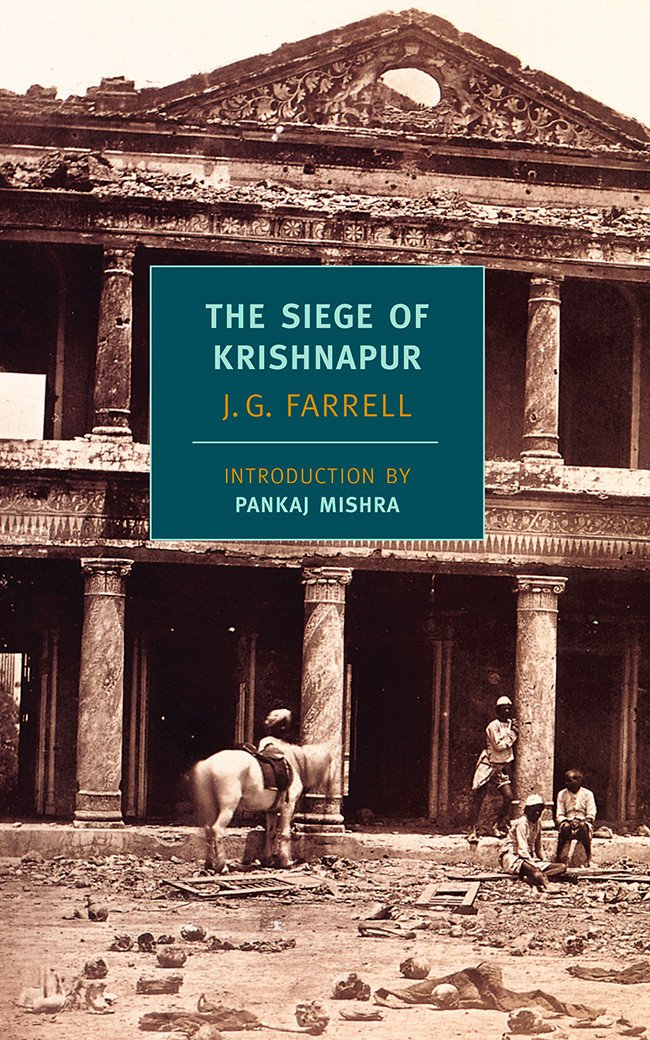 Book cover for J G Farrell's The Siege of Krishnapur in the South Manchester, Chorlton, and Didsbury book group