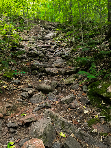 Boulder fields and steep climbs make the St. Peter's Dome trail moderate to difficult