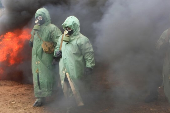Personas tóxicas en medio de un incendio
