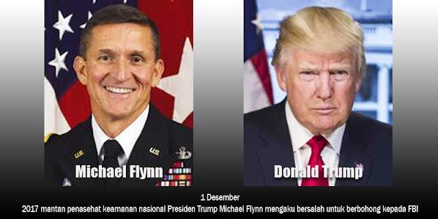 Foto Michael Flynn dan Donald Trump