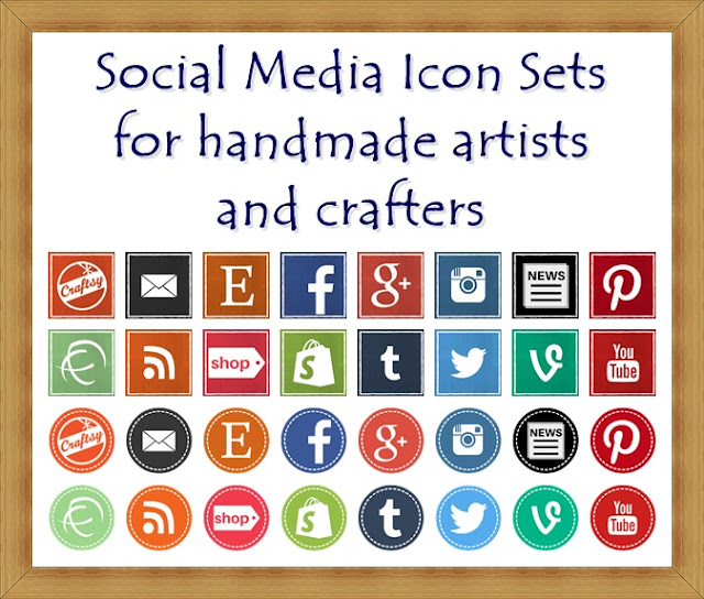 Free social media icon sets for crafters and handmade artists