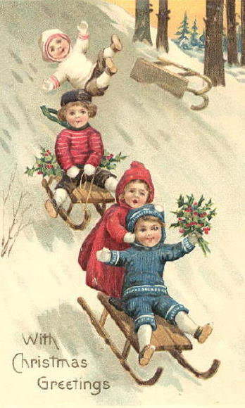 Bumble Button More Enchanting Christmas Postcards From 1800s