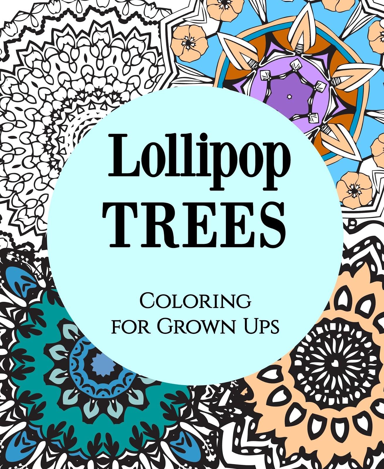 Lollipop Mandala Adult Coloring Book