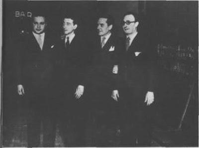 Ciríaco Ortiz, Anselmo Aieta,Enrique Rodríguez y Edgardo Donato en1938