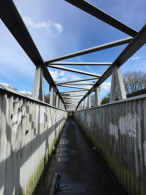 Bridge crossing the main line from Euston, near Carpenders Park