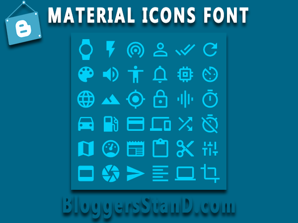 How To Add Material Design Fonts Icon In Blogger template