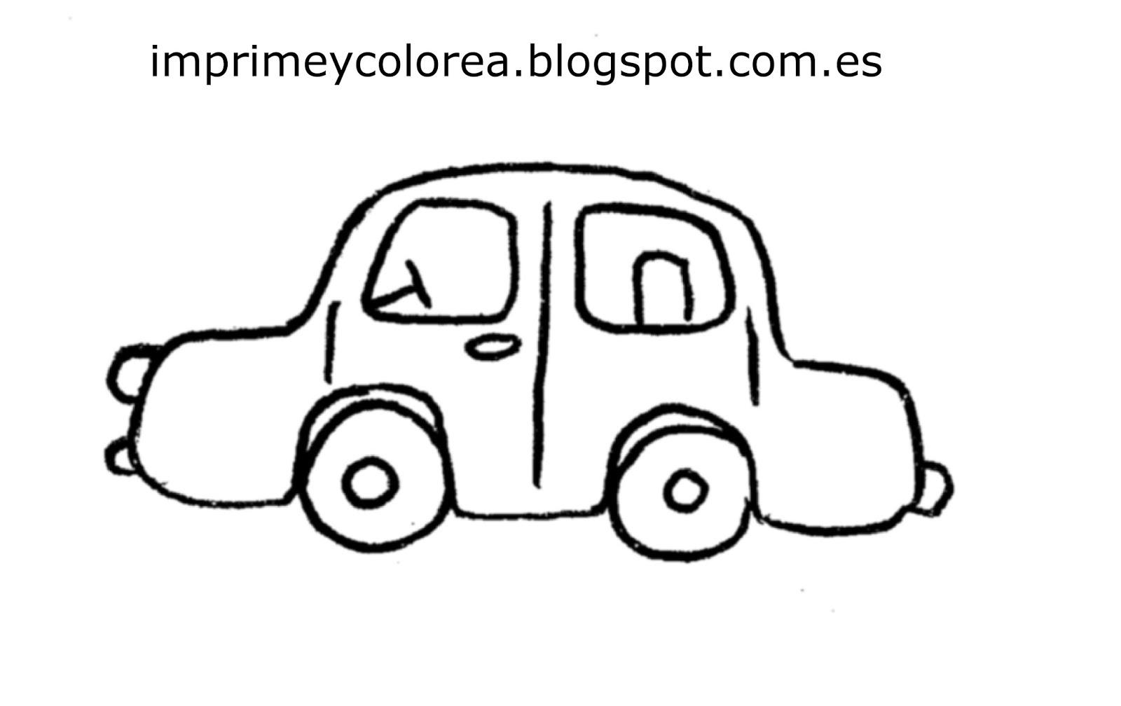 Dibujos De Coches Para Colorear Faciles: Imagenes De Coches Para Dibujar