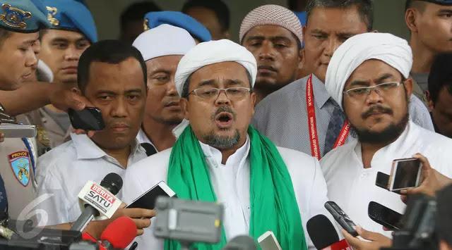 PDIP Mengelukan Tingka Laku Yang Di Perbuat Iman Besar FPI Habib
