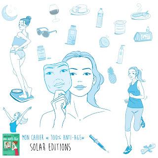 "illustration édition Solar, Mon cahier ""100% anti-age"""