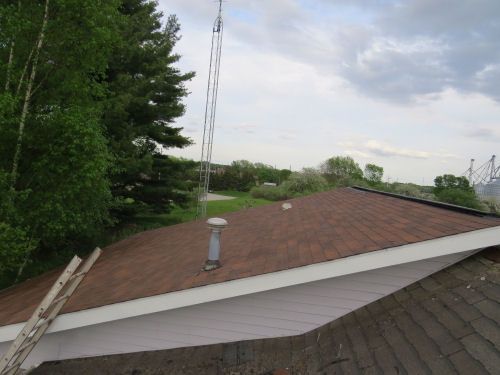 new shingles on a roof