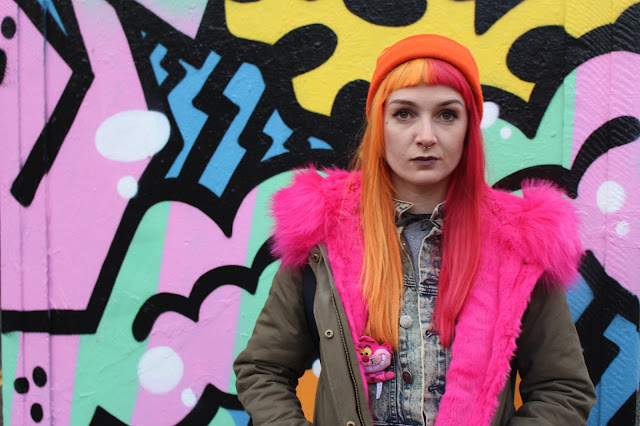 Alternative Blogger Misguided Pink Fur Parka