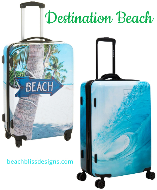 Beach Photo Design Spinner Luggage