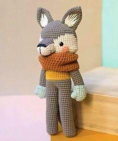 amigurumi wolf crochet pattern