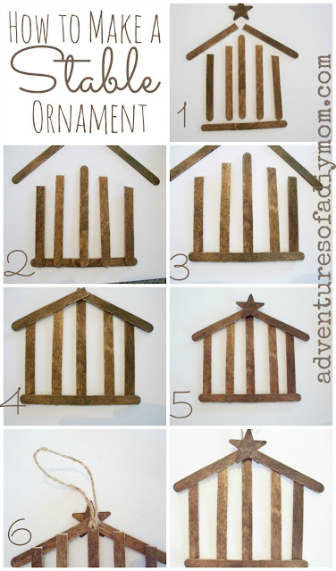 Step-by-step How to Make a Stable Ornament - Nativity Ornament