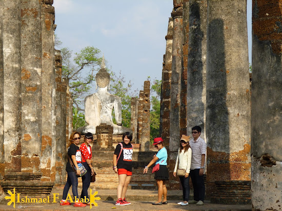 Tourists in Sukhothai Historical Park
