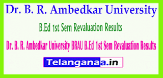 Dr. B. R. Ambedkar University (BRAU) B.Ed  Revaluation Results