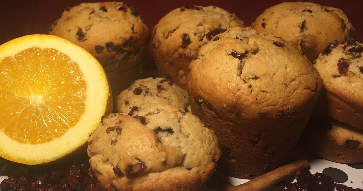 Spiced Cranberry Orange Doughnut Muffins