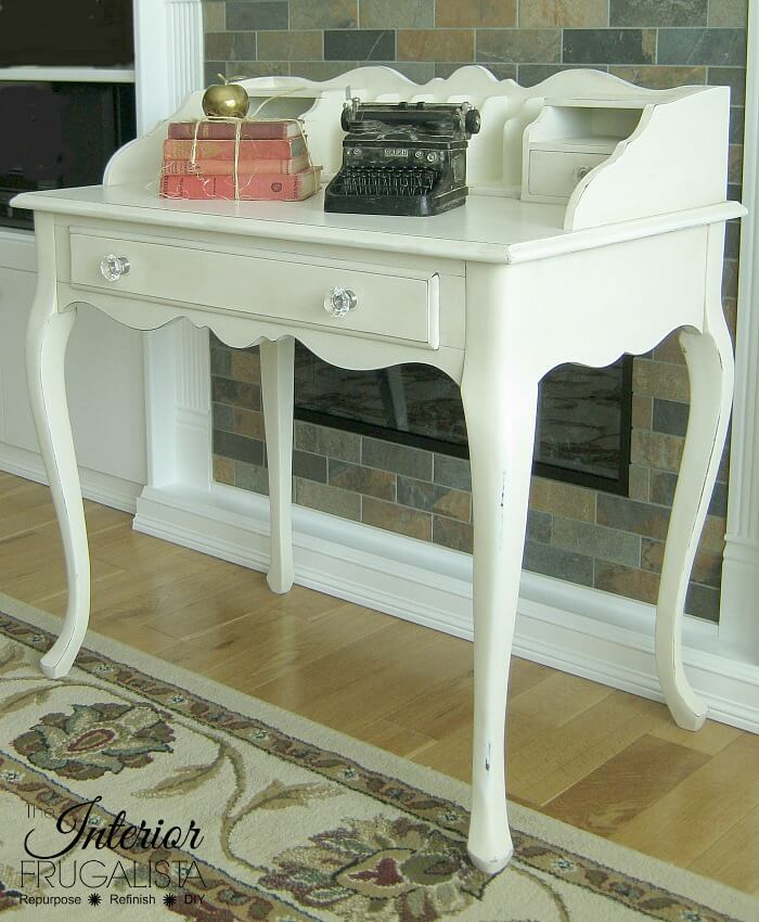 9 Creative Desk Makeovers - French Provincial Secretary Desk