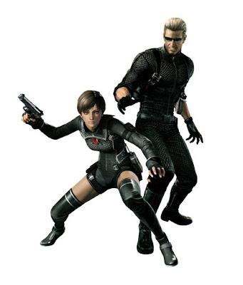 Albert Wesker e Rebecca Chambers nel Wesker Mode