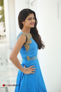 Telugu Actress Akshita (Pallavi Naidu) Latest Stills in Blue Long Dress at Inkenti Nuvve Cheppu Movie Promotions  0059.jpg