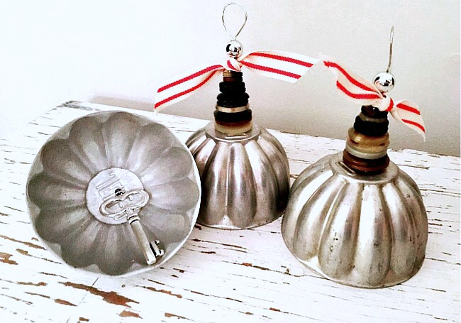 Repurposed Vintage Mold Christmas Bells