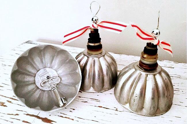 Repurposed Vintage Christmas Bells
