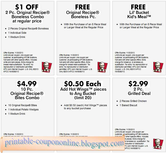 graphic regarding Kfc Printable Coupons identify Coupon for kfc - Supreme doggy boarding kennel
