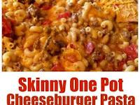 Skinny One Pot Cheeseburger Pasta Skillet