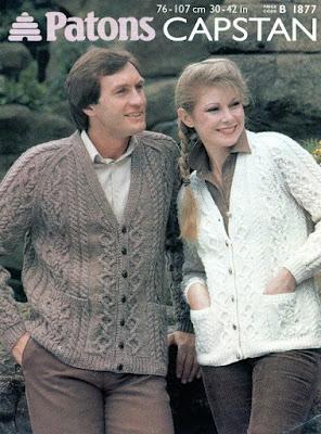 Patons Aran cardigan knitting pattern