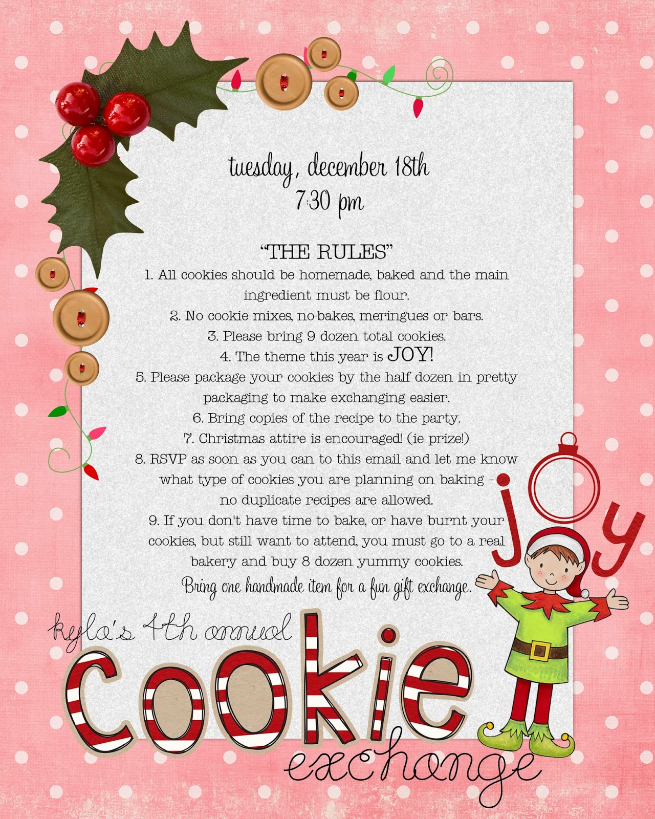 Funky Polkadot Giraffe: Cookie Exchange: Tips and Tricks (Recipe and ...