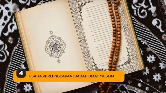 4. Usaha Perlengkapan Ibadah Umat Muslim