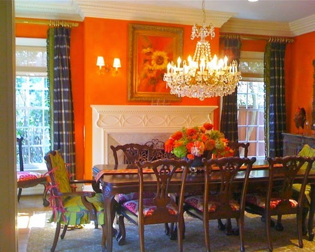 orange paint ideas dining room