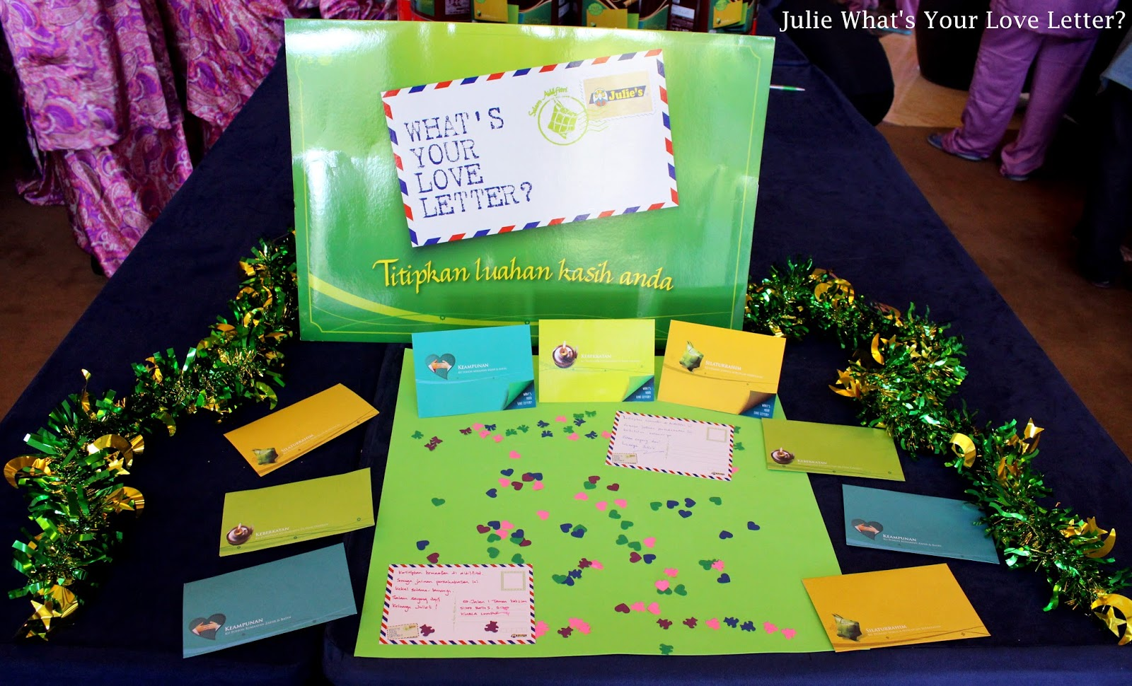 Celebrate hari raya with julies love letters life is an back to the launched event which was held at sime darby convention centre guests were given a chance to write message on julies raya postcard and julies kristyandbryce Image collections
