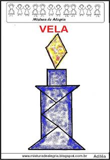 tangram desenho de vela